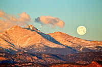 The Moon and the Front Range